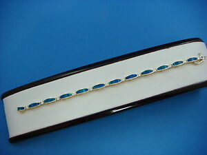 !EXQUISITE OPAL AND DIAMONDS LADIES BRACELET 12.6 GRAMS 7 INCHES 14K YELLOW GOLD