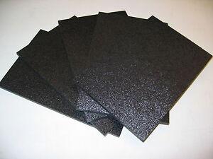 "5 Sheets of 8.25/"" X 5.125 /""X .25/"" HC Black ABS Plastic"