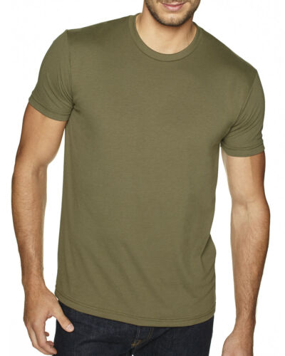 Next Level Mens Premium Fitted Sueded Crew T shirt Soft Fitted Basic Tee 6410