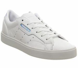 Short-femme-Adidas-sleek-Baskets-Blanc-irise-Exclusive-Trainers-Shoes