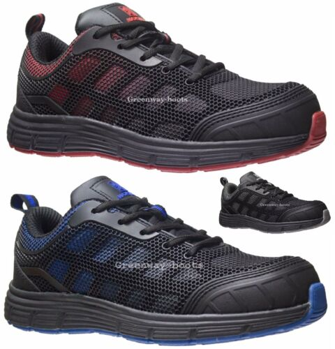 MENS ULTRA LIGHTWEIGHT LADIES SAFETY STEEL TOE CAP WORK BOOTS TRAINERS SIZE 3-13