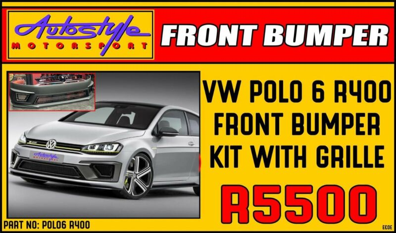 VW Polo 6 R400 Front bumper Kit R5500 Volkswagen Polo 6 Other styling options also available.  Autos