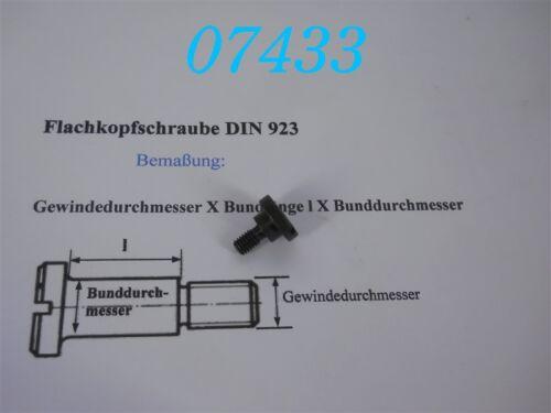 FLACHKOPFSCHRAUBE M 6 x 4 x 10 DIN 923