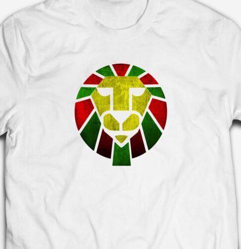RETRO REGGAE DUB MUSIC ZION LION 100/% cotton JAMAICA JAMAICAN RASTA T-shirt Tee