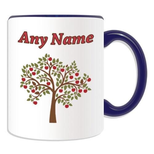 Personalised Gift Apple Tree Mug Cup Birthday Christmas Name Text Him Her Kid