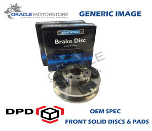 OEM-SPEC-FRONT-DISCS-PADS-256mm-FOR-VOLKSWAGEN-GOLF-MK3-1-9-D-64-BHP-1996-97