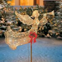 Sale Outdoor Lighted Pre Lit Gold Trumpeting Christmas Angel Holiday Decor