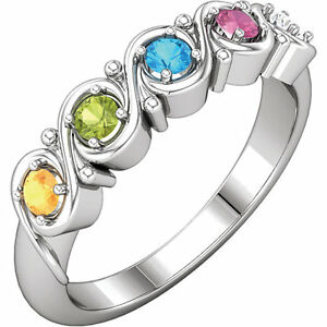 Mother S Day Jewelry Sterling Silver Mother S Birthstone Ring 1 5