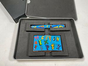 "ACME Studio BEN HALL ""Typo"" Roller Ball Pen / Business Card Case Set"