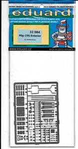 Eduard Mig-19S Exterior Photo Etch Details 1/32 084, For Trumpeter Kit  DO ST