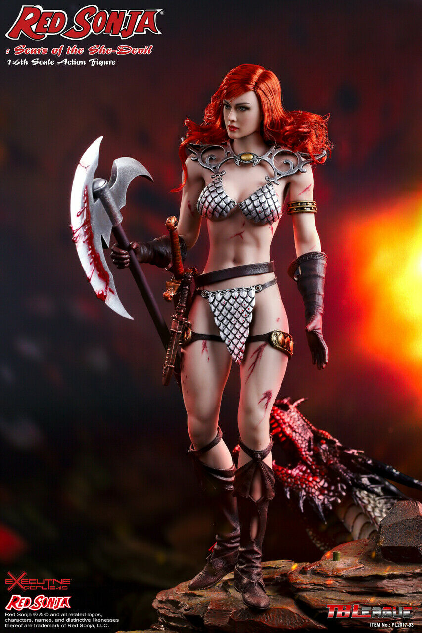 (FAST) 1 6 TBLeague PL2017-93 Red Sonja Scars of the She-Devil Action Figure New