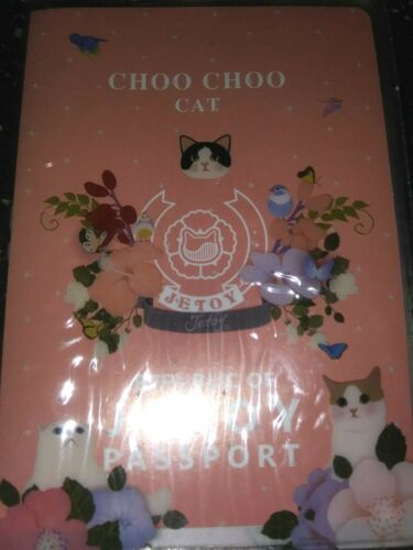 Authentic New JETOY Choo Choo Cat Transparent Passport Pocket Ticket Holder Case