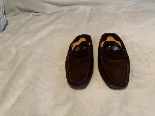 TODS Brown Suede Leather Loafers Mules Shoes Slip