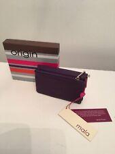 MALA Leather Max Cat Purple Gift Set with Cat Purse ID Holder Keyring Gift Box