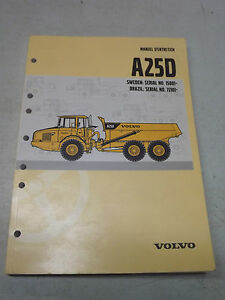 volvo a25d articulated dump truck operation manual french manuel d rh ebay com Volvo A35 Specs Volvo Truck Operators Manual