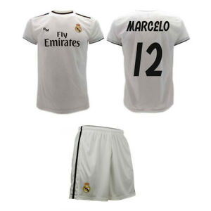 on sale 9ce55 016f9 Details about Set Marcelo Official Real Madrid 2019 jersey and shorts  Vieira 12