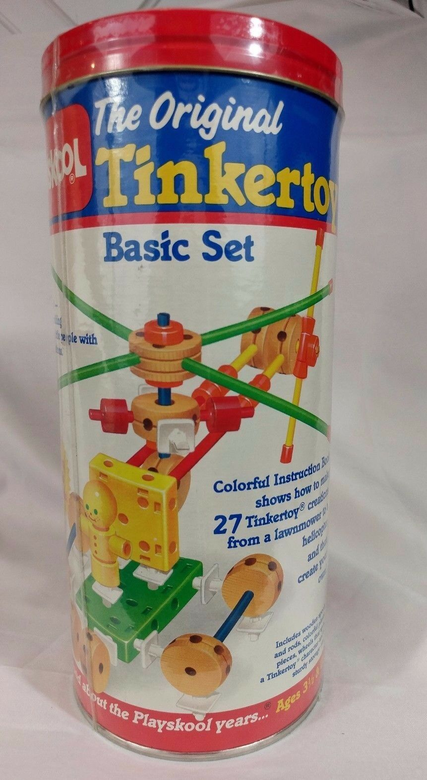 VINTAGE 1986 ORIGINAL PLAYSKOOL TINKERTOY, BASIC SET, – NEW IN BOX