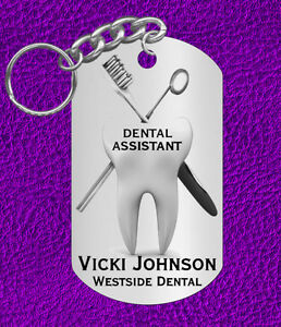 Image Is Loading DENTAL Assistant Keychain Gift Personalized With Name Or