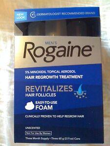 Men-039-s-ROGAINE-Hair-Regrowth-Unscented-Foam-3-months-supply