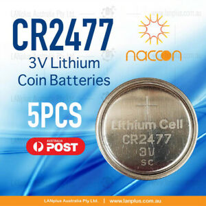 5-x-CR2477-3V-Lithium-Batteries-STOCK-IN-Melbourne-Button-Coin-CR-2477-CR2477-BN