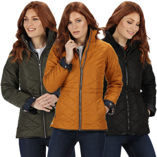 Regatta Womens Cyanne Quilted Water Repellent Insulated Puffa Padded Jacket Coat