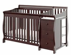 Storkcraft Baby Portofino 4 in 1 Fixed Side Convertible Crib Changer