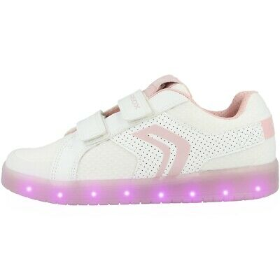 Treu Geox J Kommodor G. C Junior Schuhe Led Kinder Sneaker White J924hc0gnbuc0406
