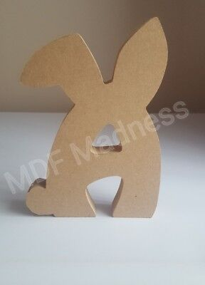 WOODEN BUNNY LETTER 18MM FREE STANDING 18CM HIGH MDF CRAFT SHAPE