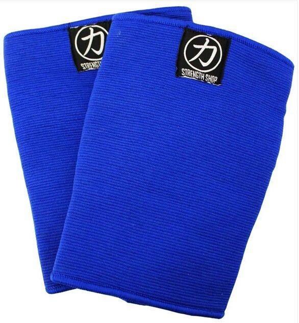 Strengthshop Knieschoner dreilagig blau knee sleeve Kraftsport KDK Strongman