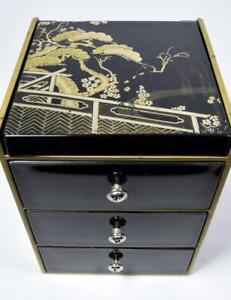 Vintage-Japanese-Table-Cabinet-Jewellery-Box
