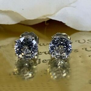 4Ct-Round-Gorgeous-Cut-Moissanite-Solitaire-Stud-Earrings-14K-White-Gold