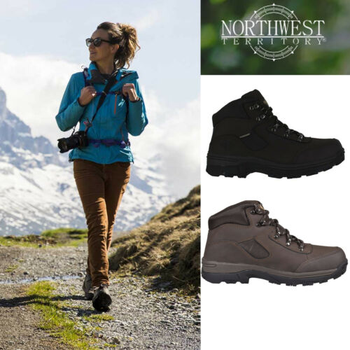 Ladies Womens Real Leather Walking Hiking Grip Sole Waterproof Storm Boots Shoes