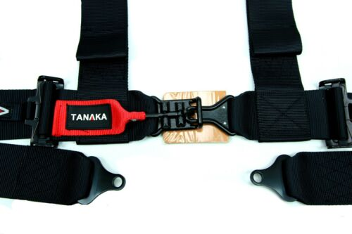 2 x Tanaka BLACK SERIES Latch and Link 4-Point Sport Racing Safety Harness