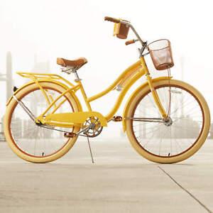 "Womens Beach Cruiser Bike 26/"" Vintage Bicycle Basket Ladies Road Cruising Blue"