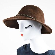 "Eugenia Kim NWT Brown & Brass Rabbit Hair Felt ""Carly"" Hat SZ M"