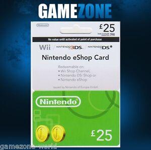Nintendo Eshop Karte Code.Details Zu Nintendo E Shop 25 Card Code 25 Gbp Uk Nintendo Eshop Swith 3ds Ds Wii Wii U