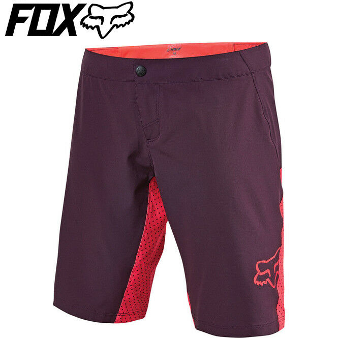 Fox Lynx Womens MTB Shorts - Plum Purple - Sizes S, M, L, XL