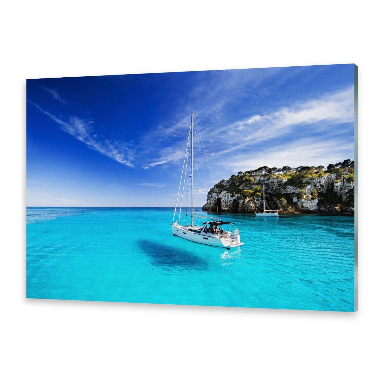 Vetro acrilico immagini Muro Immagine da plexiglas ® immagine barca a vela Minorca