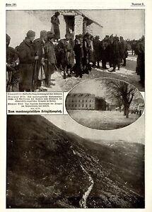 1916-Kriegsschauplatz-Montenegro-Waffenstreckung-Cetinje-WW1