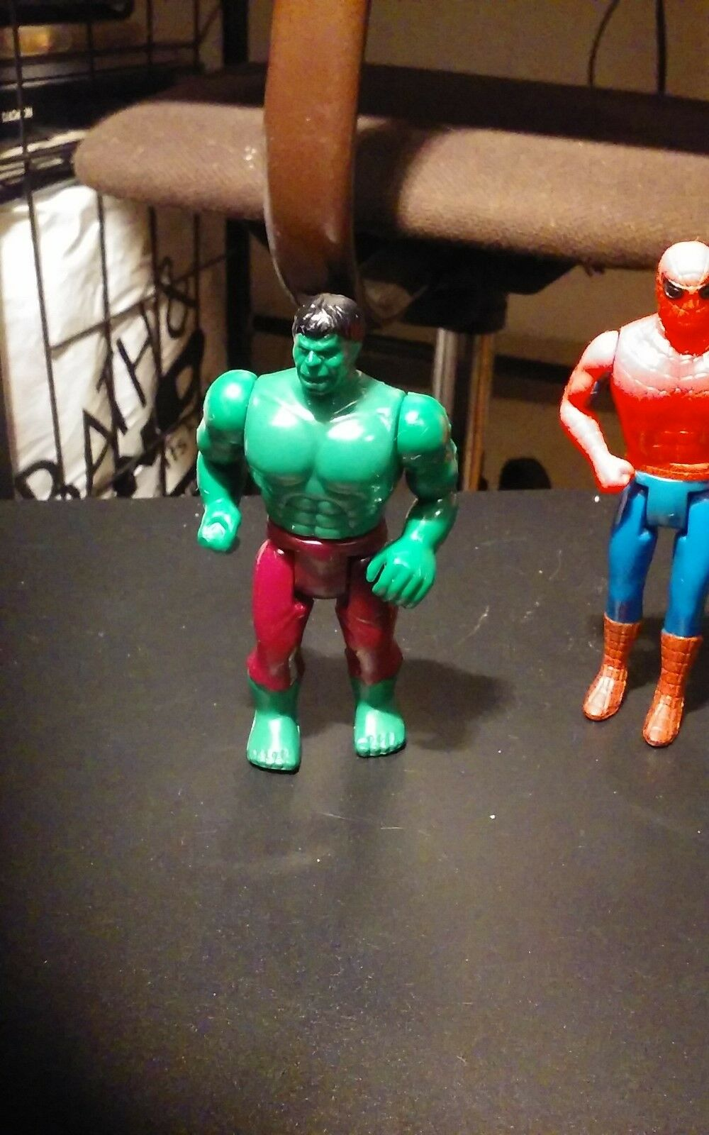 Mego action - figur spiderman, hulk spiderman - parkplatz