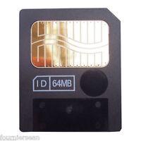 64mb 64 Meg Smart Media Flash Memory Card 4 Cameras Korg Yamaha Roland Electribe