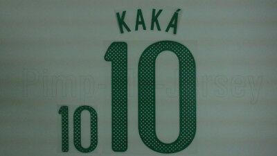 KAKA #10 Brazil Home World Cup 2010 Name Set