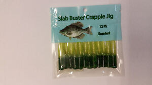 Slab Buster 2 Inch Crappie Lure Scented Jigs SB177 PURPLE CHART SILVER