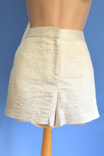 Usa Pantaloncini argento Uk Baker strutturato 139 Ted £ Bnwt crema Rrp 2 e 6 filicsh 10 qvUTw