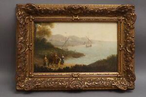 Maler-um-1700-Italienische-Kuestenlandschaft-mit-Europa-auf-dem-Stier-Mythologie