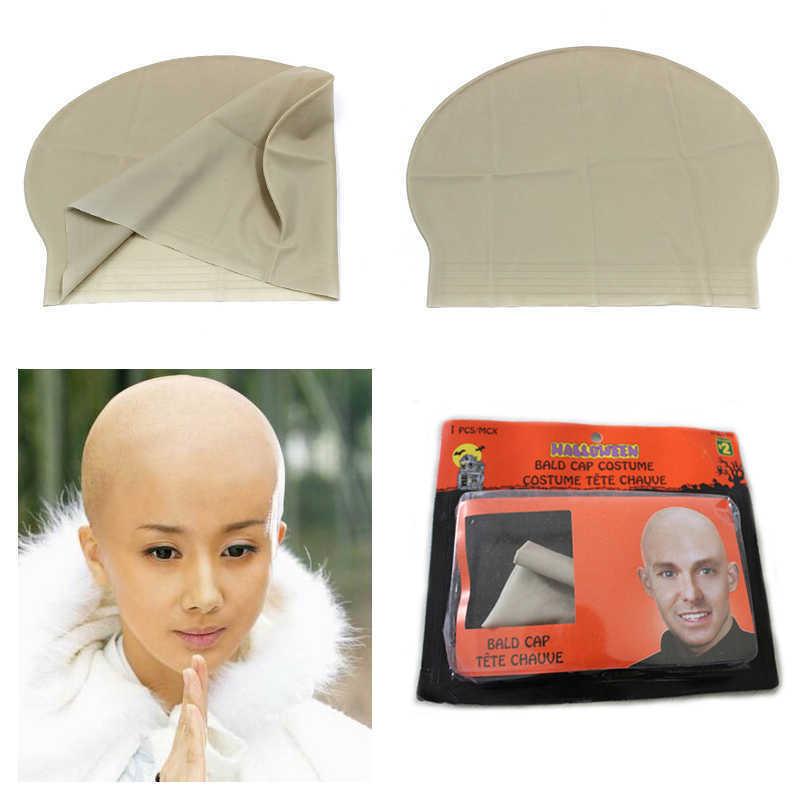 Fake Bald Head Skinhead Cap Unisex Men/'s Women Fun Funny Fancy Dress Accessory