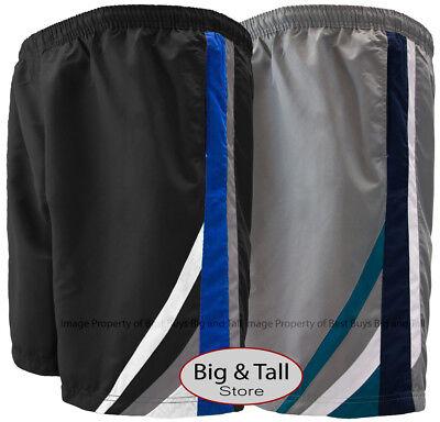 8XL Big /& Tall Men's 3-Stripe Cargo Swim Trunks by H2O Sport Tech 3XL