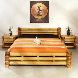 bambusbett 160x200 samar abaca doppelbett designerbett ehebett bettrahmen holz ebay. Black Bedroom Furniture Sets. Home Design Ideas