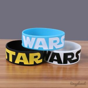 Star Wars Bracelet Wristband Logo Silicone Rubber Jedi Uk Seller Ebay