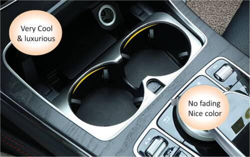 for Benz E-Class W213 2016-2017 Console Front Water Cup Holder Cover Trim 1pcs